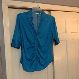 Turquoise New York & Co. Medium Sleeve Blouse
